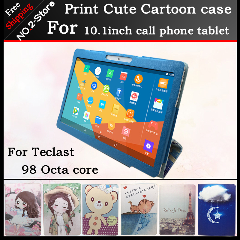 Fashion Cute Character Stand Protector Cover Case For Teclast 98 Octa core 10.1inch tablet pc , Multi pattern have in stock fashion 2 fold folio pu leather stand cover case for teclast x10 quad core 98 octa core 10 1inch tablet pc