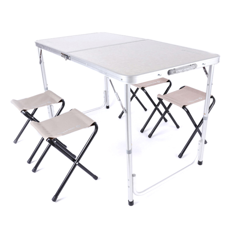 Office Table Portable Camping Table Outdoor Golden Aluminium Alloy Foldable Folding Picnic Desk Ultralight Tables For