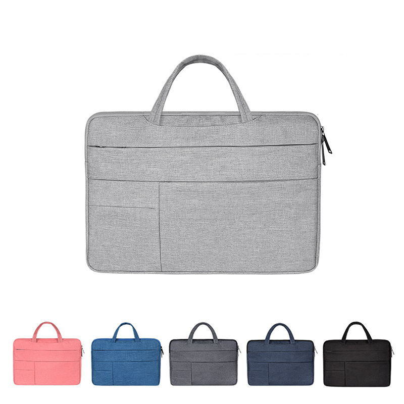 12   15 Laptop Bag Portable Men Briefcase Multi function Notebook Computer Bag Male Simple Office Business Handbag for Dell HP-in Laptop Bags & Cases from Computer & Office