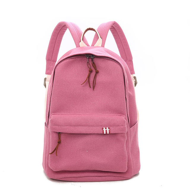Toposhine Women Canvas Backpacks Large Capacity Travel Lady Backpack High Quality Personality Candy Color School Girls Backpacks