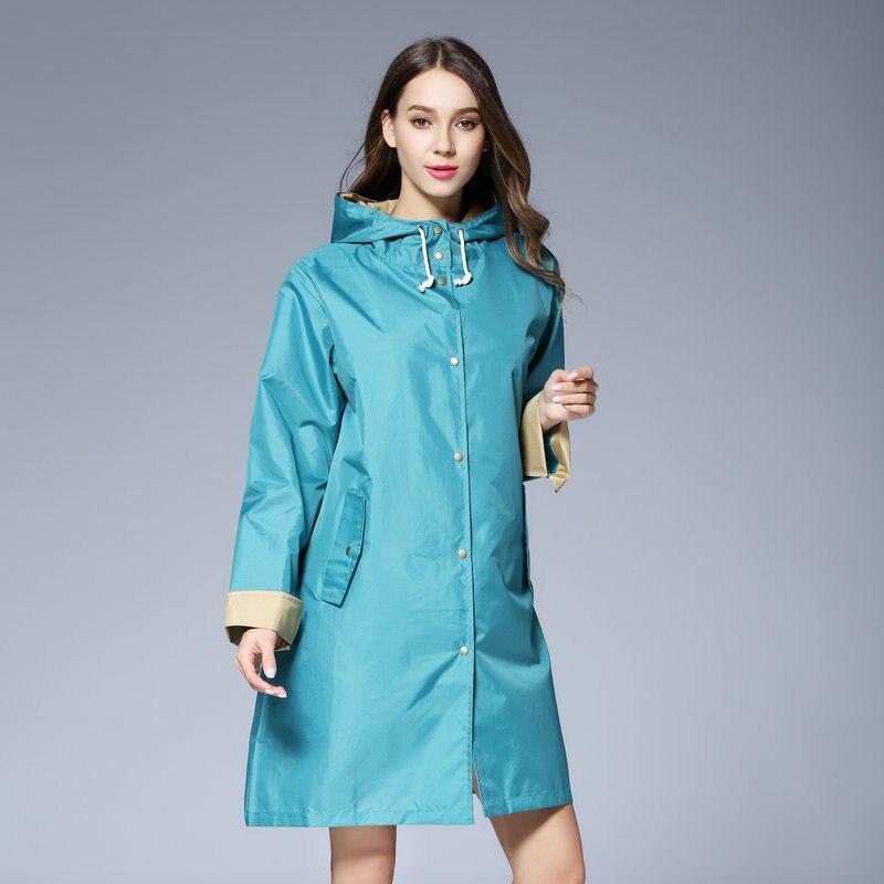 Casaco Longo Fino Casaco de Chuva Leve Capa De Chuva Das Mulheres À Prova D' Água Jaquetas Ponchos Feminino Chubasqueros capa de chuva