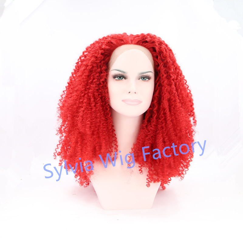 Hot Red Lace Wig 72
