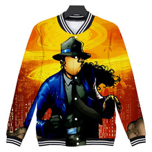 Michael Joseph Jackson 3D Fashion V-hals Baseball Jas Famale/Mannelijke Kpop Winter Harajuku Streetwear Casual Cool Jassen(China)