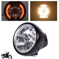 Beler New 1Pc 7 Clear LED Headlight Halogen Turn Signal Indicators Blinker Fit For Harley Yamaha