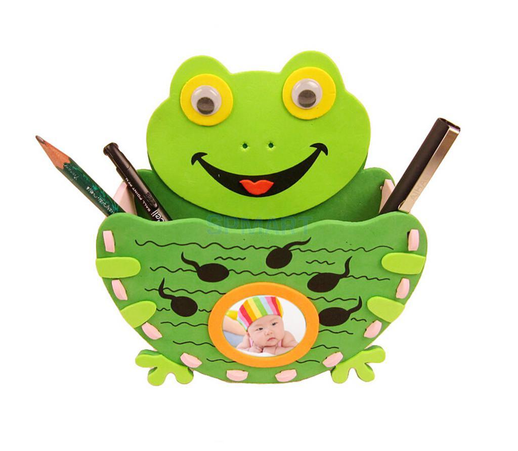 1 pcs Wholesale Handmade Eva Pen Holder Eva Foam Craft Kits Kids DIY Container for Pens Educational toys for Children