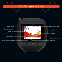 LUCKY 200FT 60M Range Sonar Fish Finder Watch Type Wireless Fishfinder Portable W Fishing Sounder Fishing Tackle