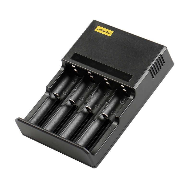 4 قطعة LED شاحن بطارية ليثيوم أيون 18650 18350 16340 14500 AA AAA NiCD NMH شاحن الذكية usb 18650 شاحن بطارية aa aaa