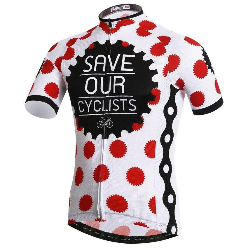 Salvar Os Nossos Ciclistas Respirável Camisa de Ciclismo Camisa Bicicleta Conjunto Ciclismo MTB Roupas Bicicleta Maillot ciclismo Ropa Hombre