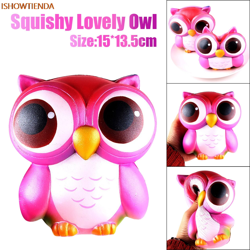 15cm Lovely Pink Owl Cream Parfumat Squishy Slow Rising Squeeze - Produse noi și jucării umoristice