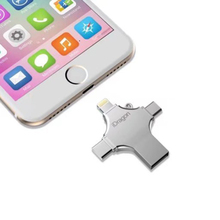 New arrival 4in1usb flash drive 16gb pen drive USB otg type-c flash memory stick micro USB for iphone ipad smartphone pendrive
