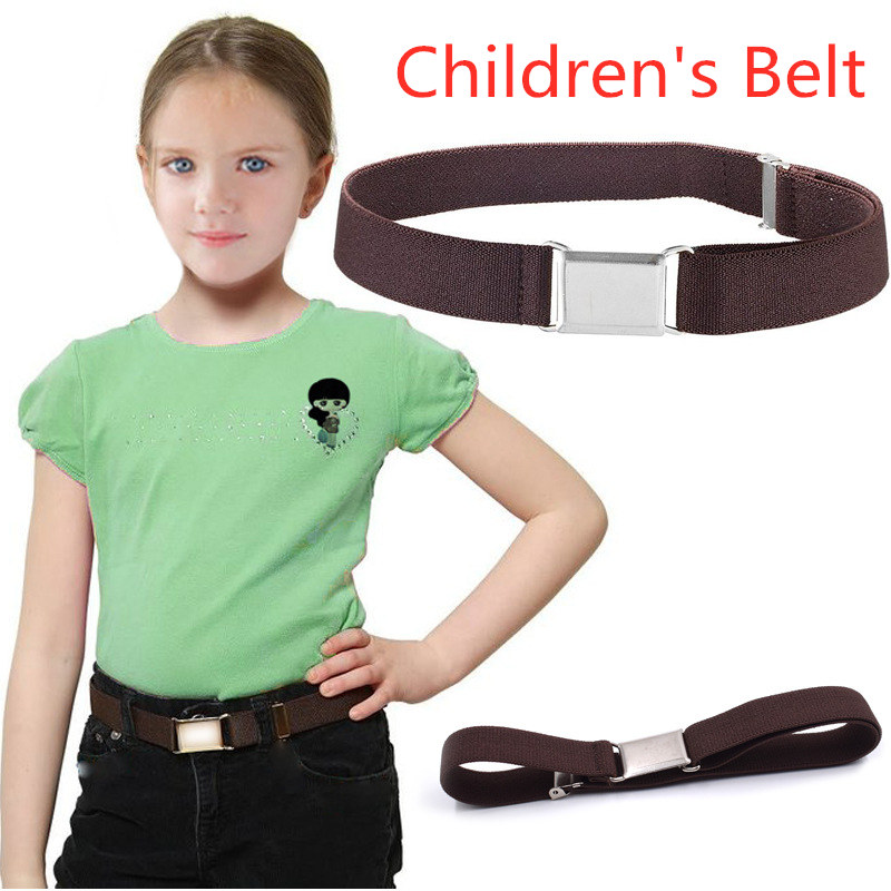 Children Kids Belt Red Black Yellow Unisex Canvas Belts Boys Girls Elastic Belt Adjustable Belt