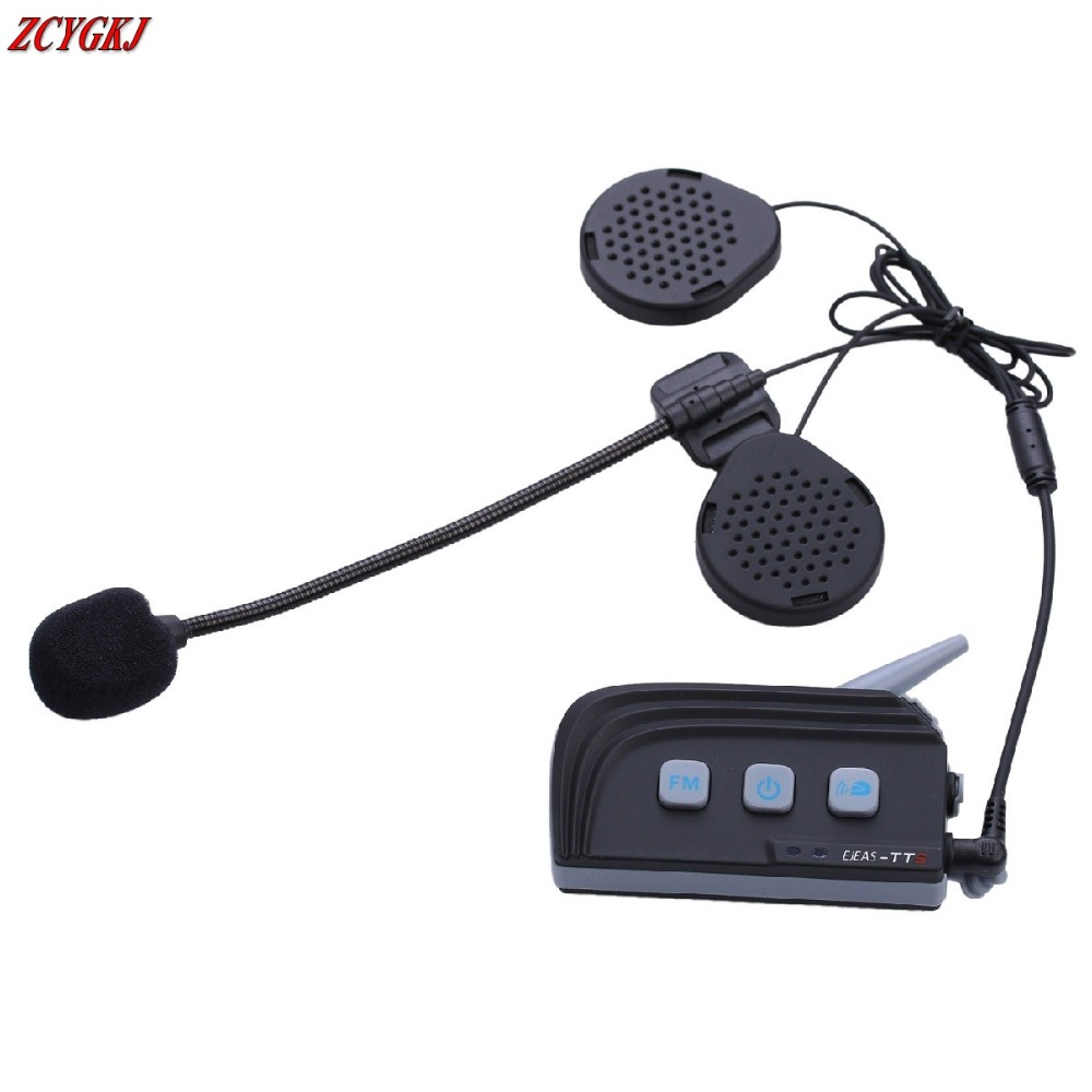 2016 Newest Dual Bluetooth 4 0 1500M Motorcycle Helmet Intercom headset Wireless Moto Interphone with FM