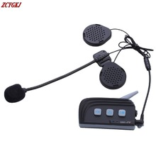 2016 Newest ! Dual Bluetooth 4.0! 1500M Motorcycle Helmet Intercom headset Wireless Moto Interphone with FM Stereo for 4 Riders