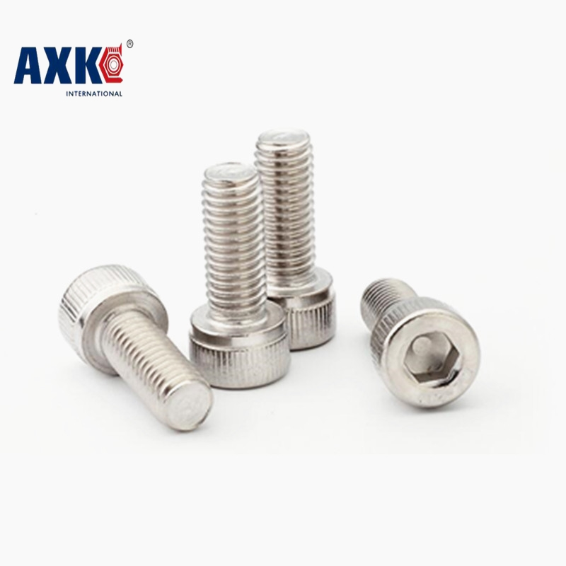 100Pcs M1.6 M2 M2.5 M3 M4 DIN912 304 Stainless Steel Hexagon Socket Head Cap Screws Hex Socket Screw AXK63 2pc din912 m10 x 16 20 25 30 35 40 45 50 55 60 65 screw stainless steel a2 hexagon hex socket head cap screws