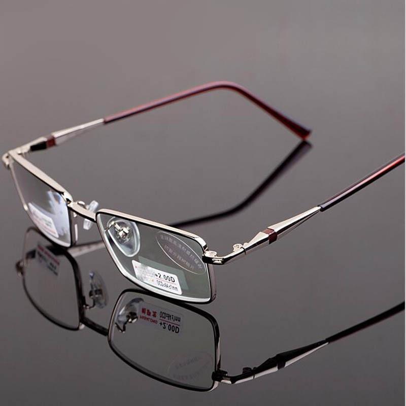New Full Metal Frame Reading Glasses Women Men Anti-radiation Aspheric Presbyopic Eyeglass Men Reading Eyewear Gafas De Lectura