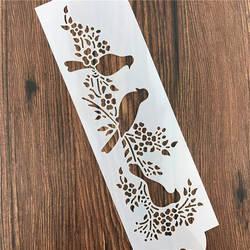 Животные сорока птица лома стены трафарет аэрография трафареты украшений для Diy Скрапбукинг Art Ablum штамп для ежедневника ремесла