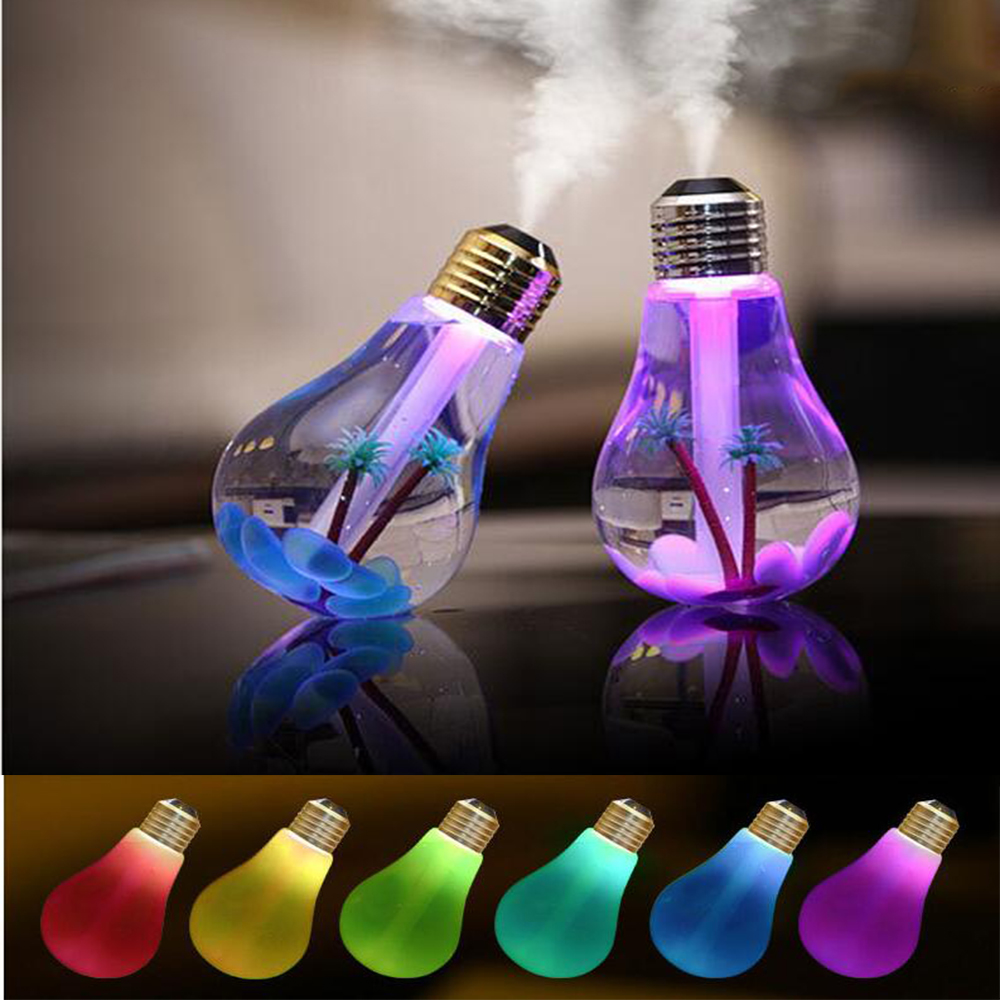 Neueste 400 ML USB DC 5 V 7 Farben Nachtlicht Luft Ultraschall-luftbefeuchter Öl Wesentliche Aroma Diffuser Nebel Maker fogger USB Gadgets