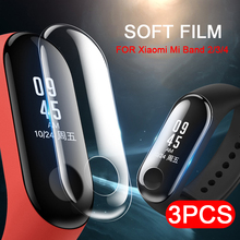 3 шт./лот сплошная Защитная пленка для Xiaomi Mi Band 3 Защитная пленка для экрана на браслет Xiaomi 4 3 2 band2 band3 band4 M4 не калёное Стекло