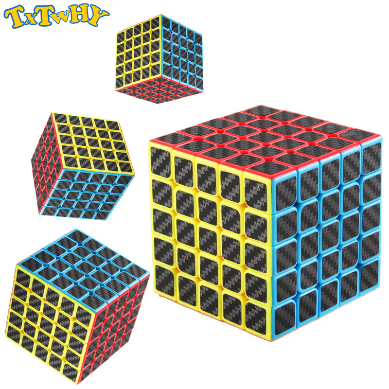 Moyu Mofangjiaoshi 5x5x5 Mf3rs Carbon Fiber Sticker Magic Cubes Professional Speed Cube Magico Educational Toys For Children