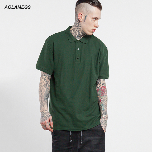 Aolamegs Polo Shirt Men Fashion Casual Solid Color Polos 2017 Spring Summer New Short Sleeved Cotton Polo Camisa 5 Colors S-XXL