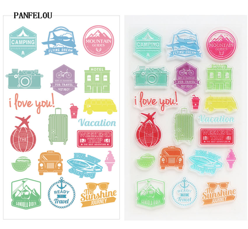 PANFELOU NEW YEAR Travel to commemorate Stamp/Seal DIY scrapbooking/photo album Decorative clear stamp sheets