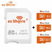 Livraison gratuite ez partager Micro SD adaptateur Wifi sans fil 8G 16G 32G classe 10 carte mémoire TF MicroSD adaptateur WiFi Cartao de memoria