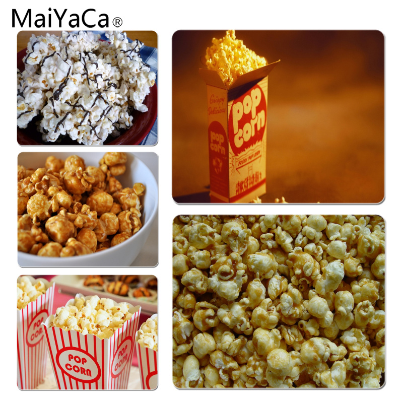 MaiYaCa New Printed Popcorn Large Mouse pad PC Computer mat Size for 18x22cm 25x29cm Small Mousepad