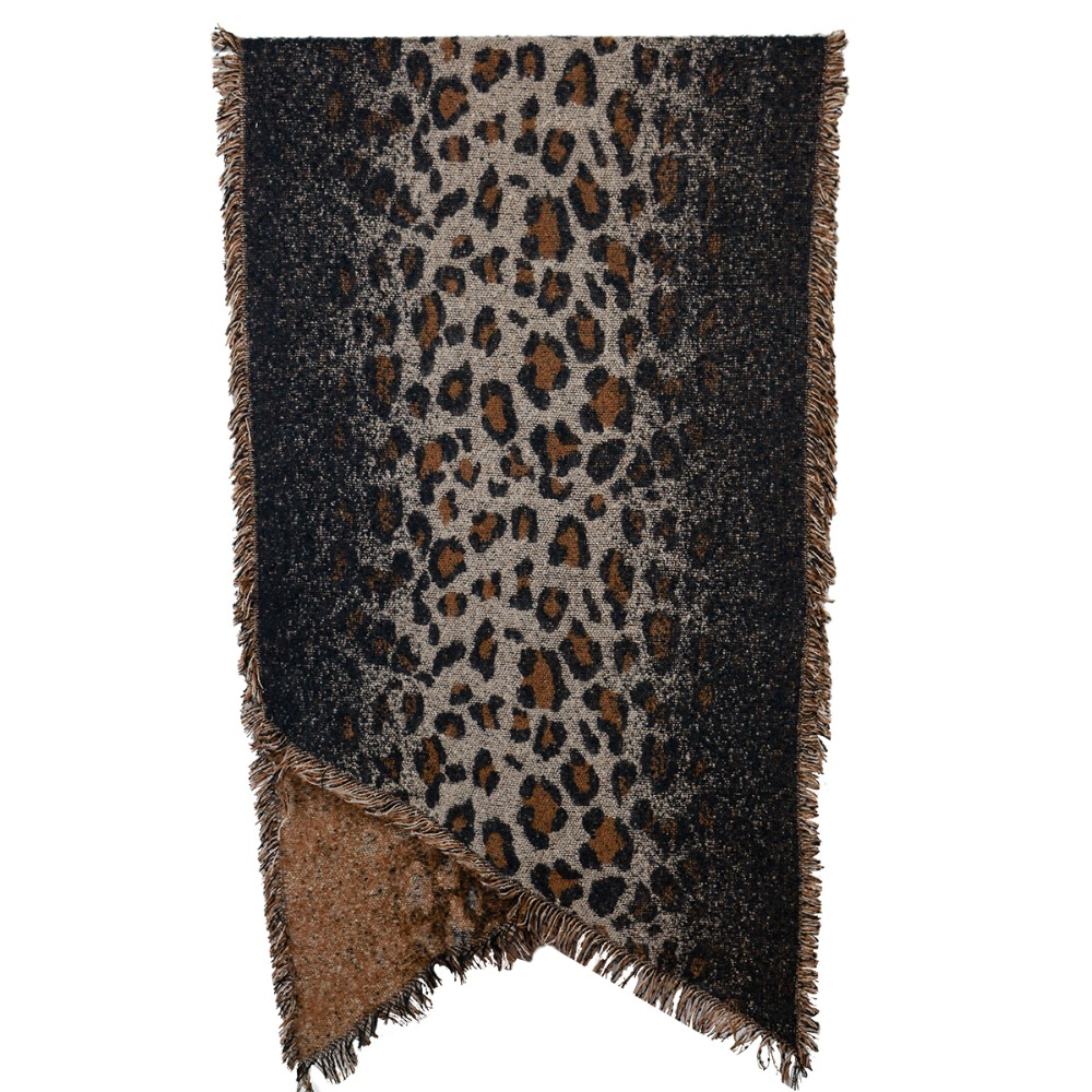 jzhifiyer YX158 330G 70*198+3*2cm High quality Leopard Scarves Thick Fashion Cashmere Mens Scarf