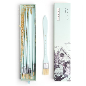 Image 4 - MIYA 10 sztuk zestaw pędzli artysty włosia włosów akwarela obraz olejny akrylowy pędzle dostaw sztuki