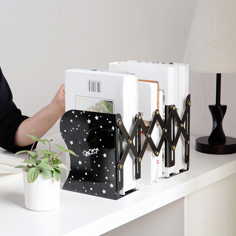 Vanzlife telescopic folding iron book holder creative office book book desk self