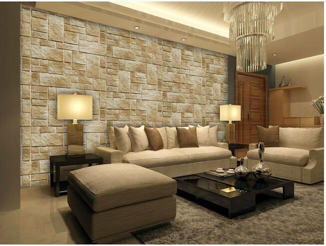 Custom retro wallpaper old brick pattern for the living room TV background wall vinyl wallpaper