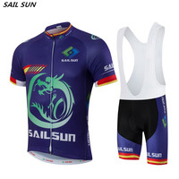 2016 SAIL SUN Men Purple Bike Jersey Bib Shorts Sets Team Cycling Jersey Top MTB Pro