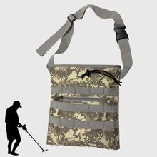 Digger's Pouch Camo Metal Detector Waist Bag Digger Pouch for Metal Detecting and Treasure Hunting metal ring detail flap pouch bag