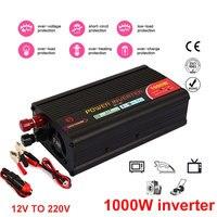 Vehemo 12V To 220V 1000W Power Inverter Car Converter Fan Convenient Adapter Automobile Car Inverter Transformer Refrigerator