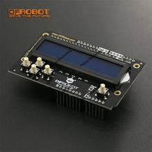 DFRobot – bouclier de clavier LCD V2.0, 5V inclus 1602/2x16, écran LCD bleu et 6 boutons compatibles avec Arduino UNO/Leonardo/Mega