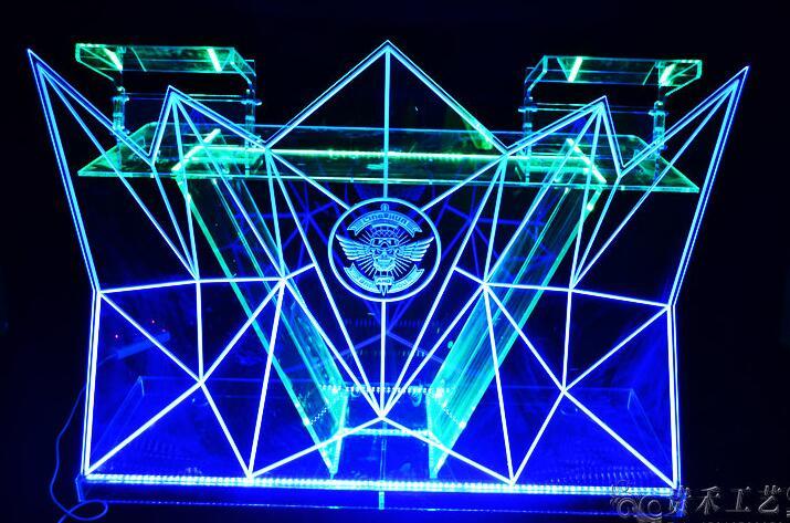 GH C002 коммерческих мебель общие Применение и акрил Материал PE светодио дный коктейль бар, Настольный/светодио дный подсветкой furnit L120 * W55 * H120cm
