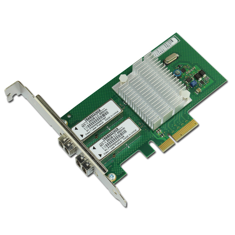 PCIe X4 Gigabit Fiber Ethernet Adapter SFF LC NIC Card 850nm 550m Optical Module 665249 b21 669279 001 560sfp ethernet adapter 10gb 2 port pcie 2 x lc gigabit nic new 1 year warranty
