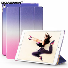 DOWSWIN case for ipad pro 10.5 inch PU leather smart cover Rainbow gradient PC back cover for ipad pro 10.5'' cases for girl(China)