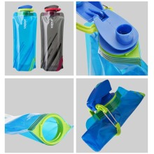 WTCABROE Foldable Outdoor 695ml Collapsible Drinking Water bottle Port
