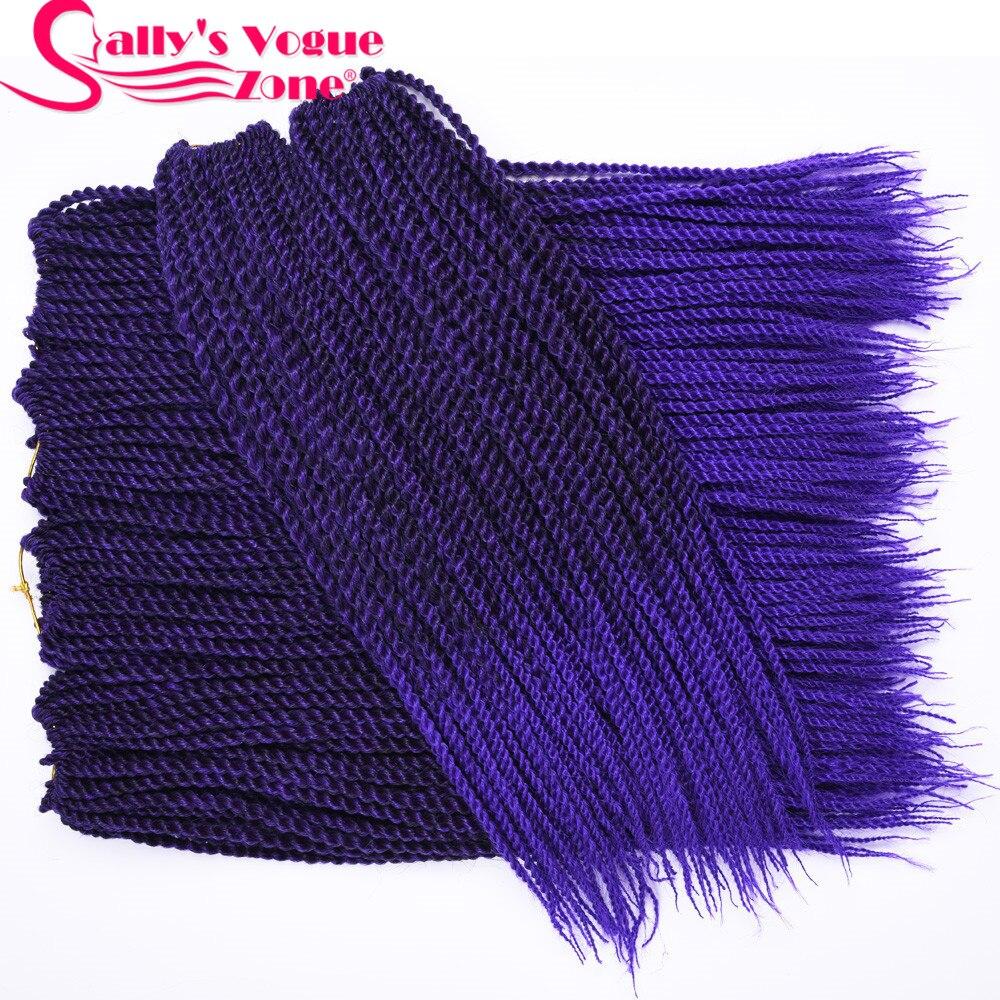 5packs lot 18 10 colors 30strands Pack Sallyhair Ombre Braiding Hair Thin Senegalese Crochet Twist Braids