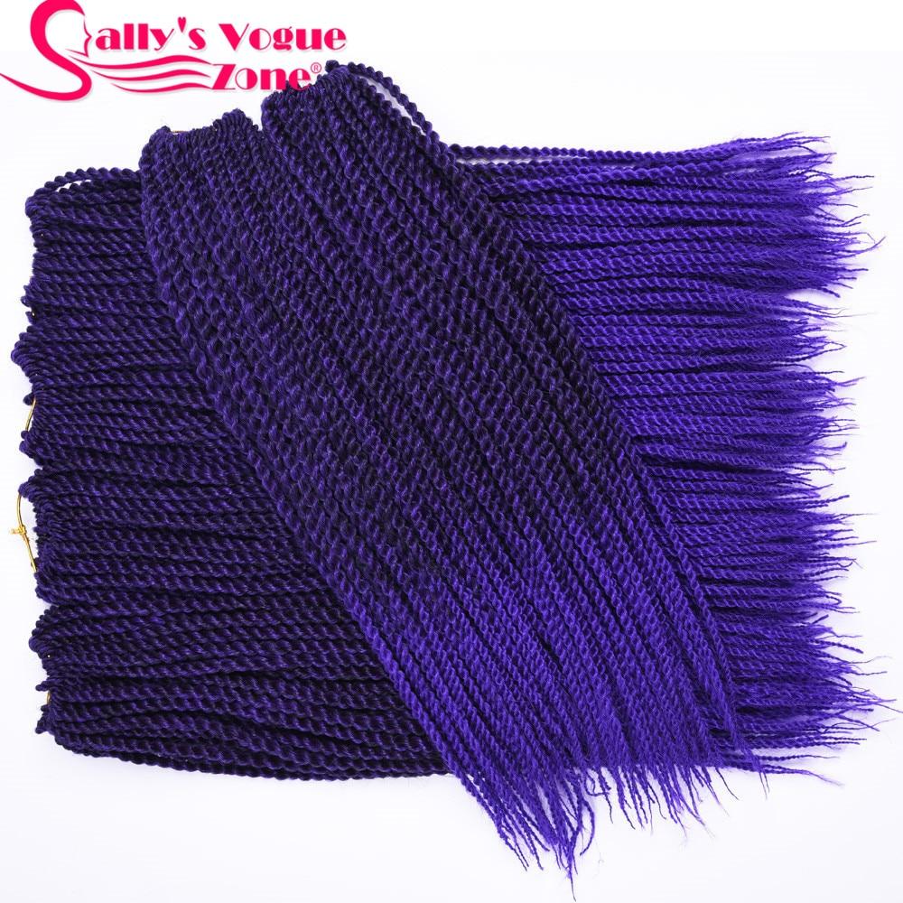 5packs / lot 30strands / Pack Sallyhair Ombre Trenzado de pelo Senegalese Sintético Crochet Twist Trenzas Cabello Crochet Trenzas