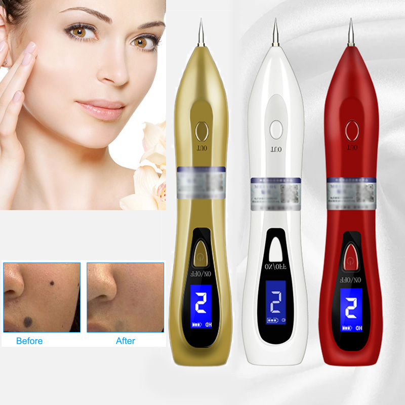 6 Gear Adjustable Rechargeable LCD Mole Removal Pen Skin Tag Freckle Warts Dot Tattoo Remover Best Gift For Women