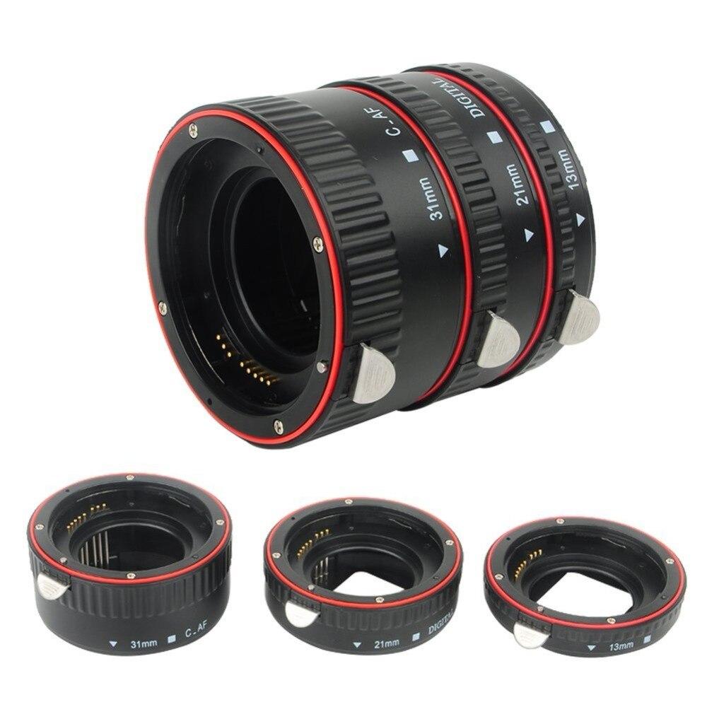 Pixel Lens Tube Auto Focus Macro Extension Tube Set For Canon SLR Cameras EF EF-S Lens Canon 700d T5i 7d 5d For Canon Accessory