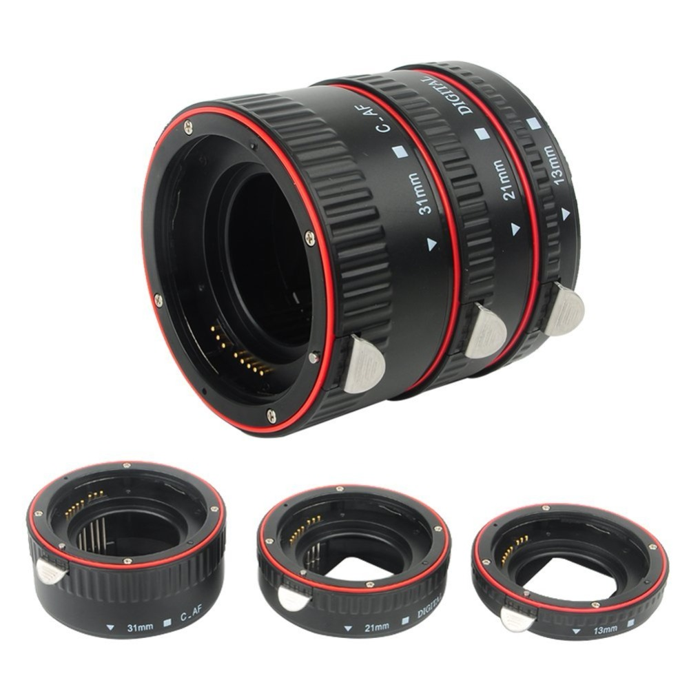 Pixel lens tube Auto Focus Macro Extension Tube Set for Canon SLR Cameras EF EF-S Lens Canon 700d t5i 7d 5d for Canon Accessory