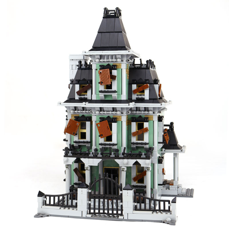 New LEPIN 16007 2141Pcs Monster fighter The haunted house Model set legoinglys Building Kits Model Compatible With 10228 Gifts lepin 16007 2141pcs monster fighter the haunted house model building blocks bricks diy toys for children gifts compatible 10228