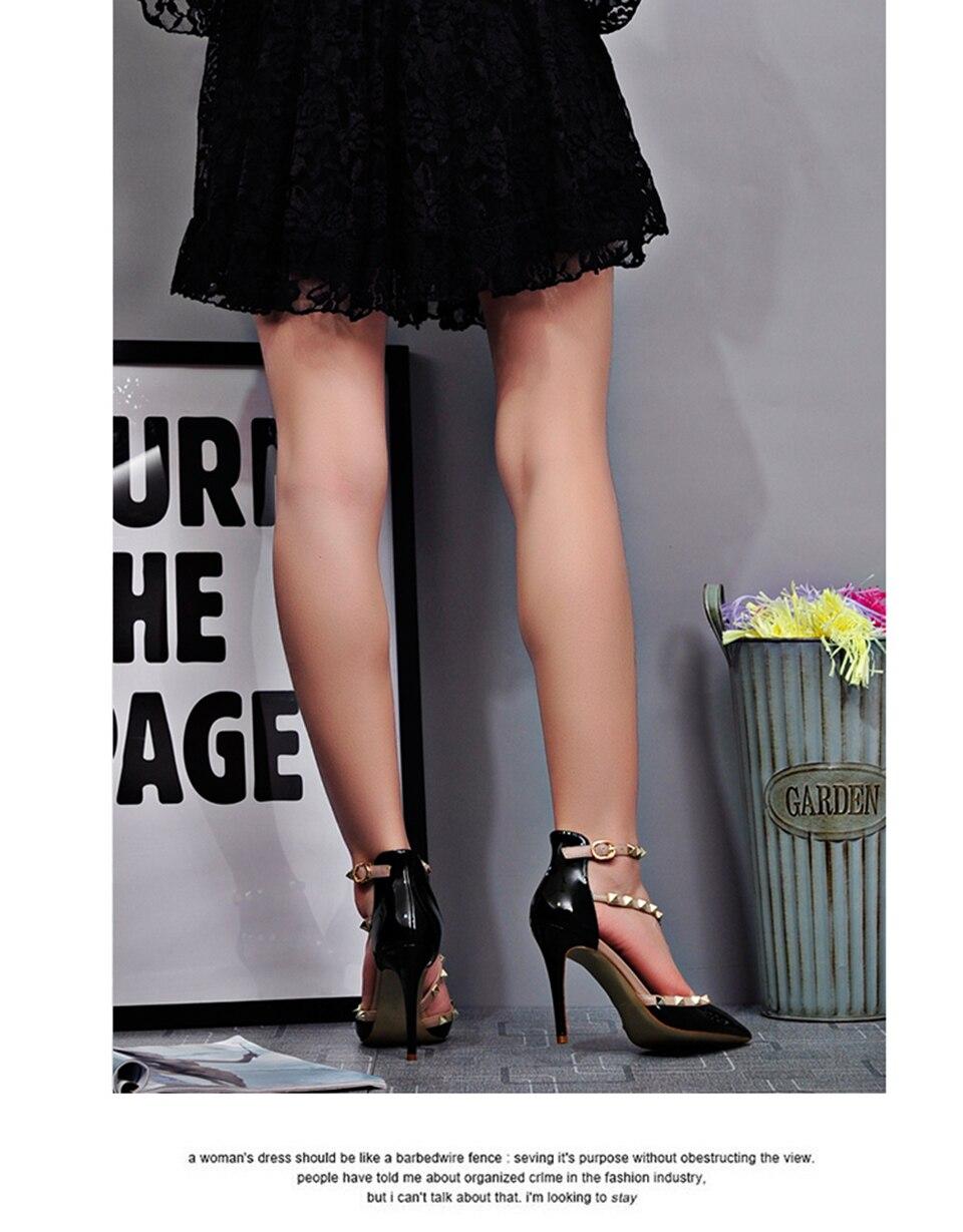 d0b2fb708a5e Runway Scarpin Nude High Heels Pointed Toe Rivet Pumps Fashion Brand ...