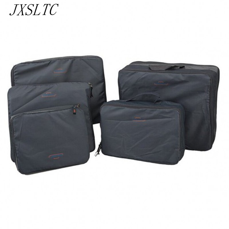 Többfunkciós hordozható utazási bőrönd ruházat 5 / fehérnemű szettek Csomagolási konténerek Cube szervező tároló táskák,
