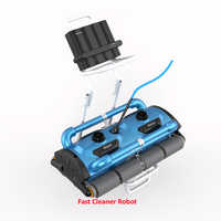 Commerical Use Robotic Automatic pool cleaner Icleaner-200D with 40m Cable For Big Pool Size( At least 1000m2) With Caddy cart