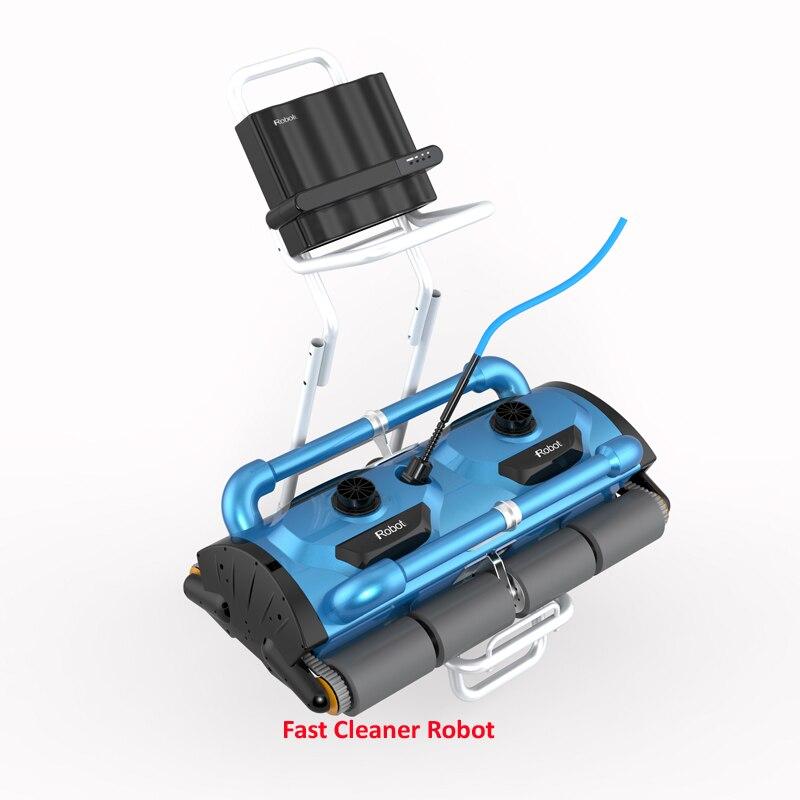 Uso di commercio Robot pulitore Automatico piscina Icleaner-200D con 40 m Cavo Per Le Grandi Dimensioni della Piscina (almeno 1000m2) con Caddy carrello