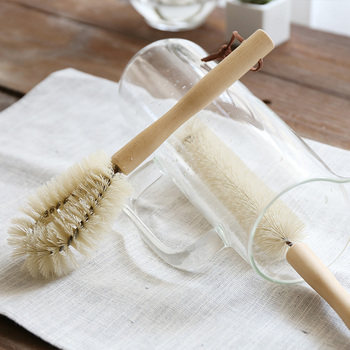 Cup Mug Cleaning Brush Wooden Handle Dishes Bottle Pan Pot Washing Brushes Multifunctional Kitchen Cleaning Accessories Tools 5